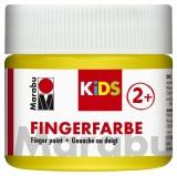 Marabu Fingerfarbe Kids - 100 ml, gelb Für Kinder ab 3 Jahren. Fingerfarben gelb 100 ml
