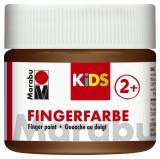 Marabu Fingerfarbe Kids - 100 ml, braun Für Kinder ab 3 Jahren. Fingerfarben braun 100 ml