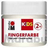 Marabu Fingerfarbe Kids - 100 ml, weiß Für Kinder ab 3 Jahren. Fingerfarben weiß 100 ml