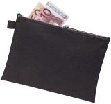 Veloflex® Bank- / Transporttasche - für A5, Stoff, schwarz Reißverschlusstasche schwarz Stoff