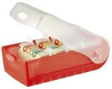 HAN Karteibox CROCO, DIN A8, für 500 Karten, incl. 5 Stützplatten, rot-transluzent Lernkartei