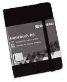 DONAU Notizbuch - A6, kariert, 192 Seiten, schwarz mit Lesezeichen Notizbuch A6 kariert 192 Seiten