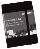 DONAU Notizbuch - A6, liniert, 192 Seiten, schwarz mit Lesezeichen Notizbuch A6 linert 192 Seiten