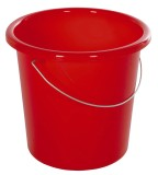 Eimer - Plastik, rund, 10 Liter, rot Wischeimer grau 10 Liter