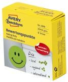 Avery Zweckform® 3858 Bewertungspunkt lachender Smiley - Ø 19 mm, Spender mit 250 Etiketten, grün