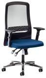 prosedia Bürodrehstuhl Eccon 7172  blau/schwarz Drehstuhl blau/schwarz 41,2-54,4 cm 49 cm