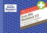 Avery Zweckform® 313 Meldeblock Erste Hilfe - A6 quer, 50 Blatt Meldeschein A6 quer