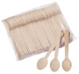 HOSTI® Einweg Holzlöffel - 16 cm, 100 Stück Besteck Löffel