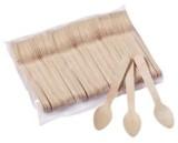 HOSTI® Einweg Holzkaffeelöffel - 11 cm, 100 Stück Besteck Kaffeelöfel
