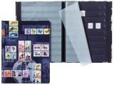 Pagna® Briefmarkenalbum Porto - A4, 16 Seiten, schwarze Blätter Briefmarkenalbum 16 Seiten A4