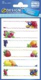 Avery Zweckform® Z-Design 59473, Marmeladen Etiketten, Obst, 3 Bogen/18 Etiketten Etiketten Papier