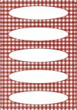 Herma 3639 Küchenetiketten Vichy- Karo rot Haushaltsetikett 76 mm 23 mm rechteckig Papier