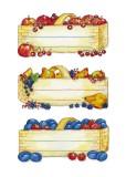 Herma 3604 Küchenetiketten Obstkörbe Haushaltsetikett 76 mm 35 mm rechteckig Papier