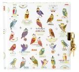 Goldbuch Tagebuch Owls - 96 Seiten mit Schloss Tagebuch Owls Kunstdruck mit Relief 96 weiße Seiten