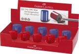 Faber-Castell Einfachspitzdose Grip 2001 Mini - rot/blau Farbwahl nicht möglich. Dosenspitzer 6 mm