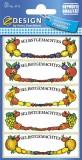 Avery Zweckform® Z-Design 3712, Marmeladen Etiketten, Obstrahmen, 3 Bogen/15 Etiketten 21 x 70 mm