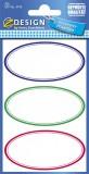 Avery Zweckform® Z-Design 3742, Marmeladen Etiketten, ovale Rahmen, 3 Bogen/12 Etiketten 35 x 70 mm