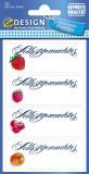 Avery Zweckform® Z-Design 59546, Marmeladen Etiketten, Schriftzug Selbstgemachtes, 3 Bogen/12 Etiketten