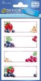 Avery Zweckform® Z-Design 59550, Marmeladen Etiketten, Erdbeeren, Johannisbeeren, 3 Bogen/12 Etiketten
