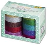 Folia Klebeband Glitter - 10er-Set Achtung: Nicht geeignet für Kinder unter 3 Jahren. Klebeband