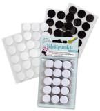 Folia Klettpunkte - Ø 2 cm, 30 Stück, schwarz/weiß sortiert, selbstklebend Klettband