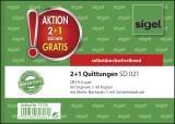 Sigel® 2 + 1 Aktion Quittungen mit Sicherheitsdruck - A6 quer, SD, MP, 2 x 40 Blatt Quittung