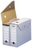 Elba Ablageschachtel tric, aus Wellpappe, 110 x 340 x 270mm, grau/weiß Archivbox grau/weiß 270 mm