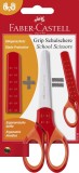 FABER-CASTELL Schulschere GRIP - rot inkl. Klingenschutz Bastelschere für Links- und Rechtshänder