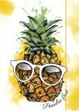 RNK Verlag Zeichenmappe Ananas- A4, Karton, mit Gummizugverschluss Zeichenmappe Ananas A4