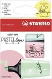 Stabilo® Textmarker BOSS® Mini - Etui, 3 Pastellfarben Textmarker pastell sortiert ca. 2 - 5 mm