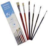 DONAU Haarpinselset - 6 Stück, sortiert Pinsel-Set sortiert sortiert sortiert