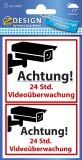 Avery Zweckform® 59389 Warnetikett Videoüberwacht - wetterfest Hinweisetiketten 70 x 70 mm 2