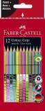 FABER-CASTELL Buntstift Colour GRIP - 12 Farben, Sonderfarbset Farbstiftetui 12 Farben sortiert -