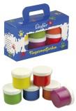 Läufer Schulmalfarben - 6x 60 ml, sortiert Für Kinder ab 3 Jahren. Fingerfarben sortiert 6x 60 ml