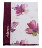 Adressbuch Blume Aquarell - A6, 96 Seiten Adressbuch Blume Aquarell A6 96 Seiten Ledersamtrücken