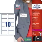 Avery Zweckform® Namens-Etiketten aus Acetatseide, weiß, 80x50mm, 200 Etiketten Namensetiketten 10