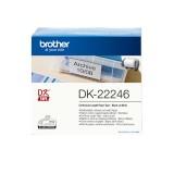 Brother DK-Endlosetiketten Papier - 103 mm x 30,48 m, schwarz auf weiß Thermoetiketten Papier