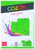Elco Doppelkarten mit Kuverts - A6/C6, 10/10 Stück, grün Doppelkarte A6 (148 x 105 mm) grün