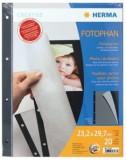 Herma 7577 Fotophan - 23,2 x 29,7 cm, schwarz, 20 Blatt Fotoalbum-Einlegeblatt schwarz 23 x 29,7 cm