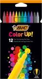 BiC® Fasermaler Color up! - 12-farbig sortiert Faserschreiberetui 12 Farben sortiert 0,8 mm