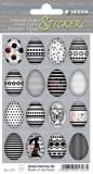 Herma 1727 Sticker Happy Easter Eierset - schwarz/weiß, 48 Stück Osteretiketten selbstklebend