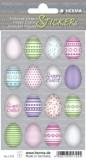 Herma 1724 Sticker Happy Easter Bunte Eier - 48 Stück Osteretiketten Happy Easter Bunte Eier Papier