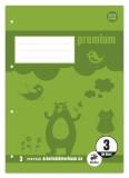 Staufen® Arbeitsblätterblock PREMIUM LIN 3 - A4, 80 g/qm, 50 Blatt, beidseitig mit Rahmen A4