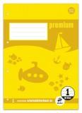 Staufen® Arbeitsblätterblock PREMIUM LIN 1 - A4, 80 g/qm, 50 Blatt, beidseitig mit Rahmen A4