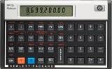 Hewlett Packard (HP) Finanztaschenrechner 12C Platinum silber/schwarz 1 Zeile x 10 Zeichen 1x CR2032